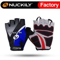 Wholesale Nuckily Road bikes gloves palm gel pad multi bright color cycling glove with antislip glove