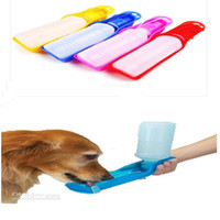 Wholesale Best price pet dogs and cats to go out drinking cats and dogs to travel Portable Drinking fountains ml blue red pink