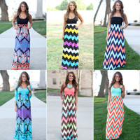 Wholesale Womens Dress Summer New Long Maxi Dress Hot Sale Vintage Vestidos De Festa Tank Chevron Curvy Bodycon Dress