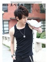 Wholesale 2014 summer trend men s clothing hemming hip hop sleeveless undershirt white tank top fashion vest