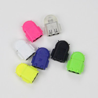 Wholesale Android Robot Micro USB OTG Cable Adapter for Samsung Galaxy S2 S3 S4 Note LG Xiaomi HTC Sony Smartphone Tablet PC Mobile Phone