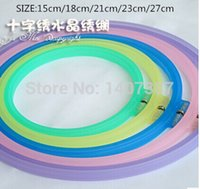 embroidery hoops - 5 mixed size pack colourful plastic embroidery frame embroidery hoops
