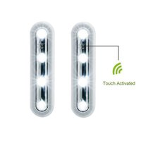 battery operated tap lights - 2 Battery Operated LEDs White Night Light Touch Light Battery Powered LED Touch Tap