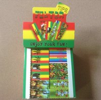 book box - One box of Bob marley Filter Tips Rasta rasta filter tip Roach Rasta style roach books booklets