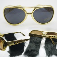 Wholesale Elvis veerlive party glasses large sunglasses sun glasses sunglasses dual personality party supplies