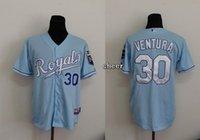 baby stops - 2015 Newest Men s Kansas City Royals Yordano Ventura Baby Blue Baseball Jerseys