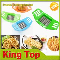 potato - French Fry Cutters Multi function Shredder Manual Potato Vegetable Slicer Cutter Fruit kitchen tools Chopper Chipper Blade