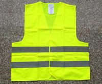 preço de fábrica verde casaco colete de segurança Saneamento aviso de segurança colete reflexivo Tráfego roupas colete de transporte rápido