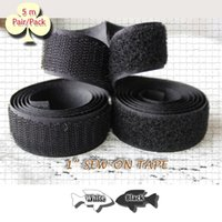 hook and loop fasteners - 5 pair meters pack inch Sew On Hook and Loop TAPE Black White Closure gripper tape fastener for fabric craft sewing repairs