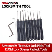 Wholesale KLOM lock Pick set piece LOCKSMITH TOOLS lock pick tools door lock opener padlock tools padlock tool tubular pick
