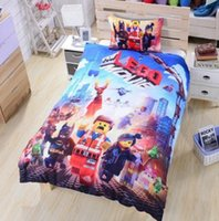 Wholesale Trader dhl free Lego Bedding Twin Full Queen Duvet Cover Set Lego Movie Teen Boys Bedding High Quality Dropship