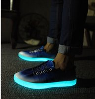 justin bieber - New fashion luminous men sneakers high quality comfortable justin bieber party sport shoes glow in the dark