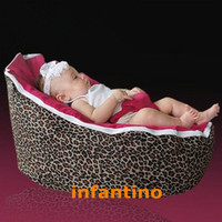 Wholesale LEOPARDS HOT PINK SEAT beanbag chair for baby sleep for baby bean bag chairs high qualit baby beanbag fabric lazy boy bean bags
