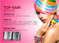 Wholesale Cheap Sale cosplay European and American punk Harajuku color streaked hair piece real hair piece Produits pour les cheveux