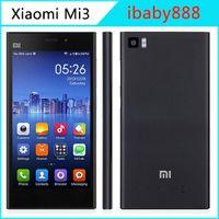 Wholesale Xiaomi Mi3 GB RAM GB ROM Quad Core Qualcomm Snapdragon AB GHz Android KitKat MIUI V5 MP Camera G WCDMA Smart Phone