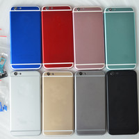 Wholesale Color Back Housing Replacement For Apple iPhone quot Case Housing Back Cover With Logo IMEI Print Colors Gold Silver Grey Red Blue Pink