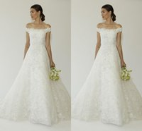 Wholesale Oscar de la Renta Bridal Wedding Dress Fall collection includes Amal Alamuddins wedding gowns Lace Wedding Dresses