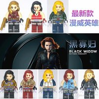 Wholesale 2016 New Marvel black widow building blocks The Avengers toys superhero Figures Black Widow Toy figures sets