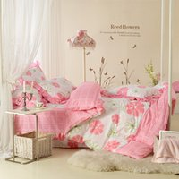 Cheap bedding set, cotton bed sheet for a big bed linen, 3d bedding set Textile family of four duver cover bedding sets among flowers
