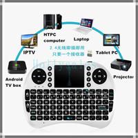 Wholesale High quality i8 keyboard mini i8 air mouse G mini wireless keyboard touchpad in retail box VS mini rii i8 kayboard DHL Free