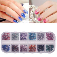 Wholesale 2mm Color Round Nail Art Rhinestone Decoration Glitter Case Nail Tips New