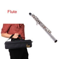 Wholesale 16 Holes C Key Flute Silver Plated Design with Bag Musical Instruments Retail