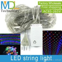 led christmas net lights - LED Net Meshwork String Christmas Lights Lighting mx1 m mx2m LED Light Lamp for Decoration Party Xmas Light CE RoHs EU US