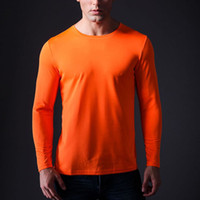 authentic sports apparel - New Brand Authentic Sports Apparel Men Running Jogging Fitness Long Sleeve T shirt O Neck Tops Quick Dry UV Sport T Shirt