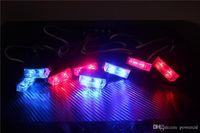 16w red and blue strobe lights - 16 LED Car Strobe Lights x2 LED Flash Warning Light Red And Blue LED Emergency Light