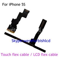 Wholesale 100 New Replacement Parts FPC LCD Flex Cable and touch screen flex cable ribbon fix parts for iPhone S For ACF Repair Machine