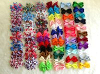 Wholesale 60pcs quot quot Grosgrain Ribbon Hair Bows Baby Hairclips DIY Girls sofia Snow White Monster High princess kitty Hair Accessories