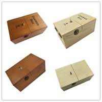 Wholesale Turns Itself Off Useless Box Leave Me Alone Machine Fully Assembled in Real Wood Boring box Wooden box creative birthday gift gift Toys