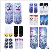 animal food store - Cat Styles Newest Cartoon Socks Women Unisex socks Ladies Socks Original SuFeng Animal Food D Printing Ship Warm Socks Dhgate Store