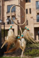 4INCH BROWN ,BEIGE COLOR native american - FACTORY DIRECTLY SALE PROMOTION PRICE native american indian dream catcher DIA inch