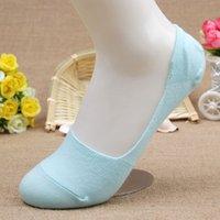 bamboo netting - pairs Bamboo fiber Women s candy colors invisible Socks anti slip net good qualtiy summer slipper