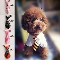 Wholesale New Adjustable Grooming Necktie Puppy Kitten Adorable Bow Tie For Dog Cat Pet H0032 W0
