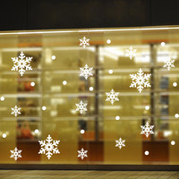 Wholesale ThanksGiving Day SALE Christmas Snowflake Wall Stickers the windows paste cabinet stickers Christmas decoration stickers