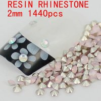 Wholesale 1440pcs mm Opal Color Resin Rhinestones Round Shape Pointed Back Perfect For Nail Art Decoration Nice For Nail Scrapbooking