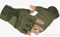 Wholesale 2015 Outdoor Sports HOT NEW Camping Military Tactical Airsoft Hunting Motorcycle Cycling Racing Riding Gloves Armed Mittens