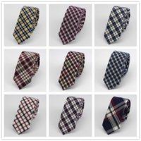 Precio de Lazo de lana-Puede insignia de encargo del lazo de los corbatas del algodón de las lanas de la tela escocesa del gravata del lazo de los hombres Corbata
