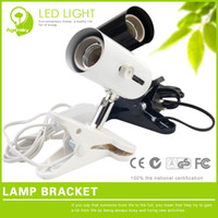 Wholesale Black UVA UVB pet heated lamp holder with ceramic base and clip fixed on the turtle tank or terrarium