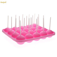 Wholesale 1Pc Kitchen Baking Mold Ball Shaped Lollypop Silicone Cake Mold Soap Ice Mold Candy Mold
