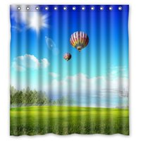 balloons cartoon pictures - Bathroom Polyester Fabric Bath Curtain Printed Creative Flying House Of Balloon Pictures Shower Curtain quot x quot