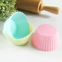 Wholesale 20x Muffin Cupcake Silicon Moulds Jelly Pudding Ice cream Moulds Baking Molds Cake Molds Party Cake Moulds Birthday Cake Tools Xmas Gifts
