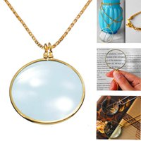 Wholesale 1pc X Decorative silver Monocle Necklace Magnifier Coin Jewelry Loupe Magnifying Glass