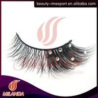 Wholesale diamond mink fur eyelashes custom eyelash packaging handmade extensions natural