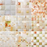 Wholesale Afghanistan Bai Qingyu imports of natural stone living room TV backdrop marble mosaic culture stone tiles