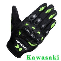 Wholesale Kawasaki Full Finger Guantes Motorcycle Gloves Motorbike Motocicleta Luva Moto Motocicleta Motocross Guantes Gloves dirtpaw