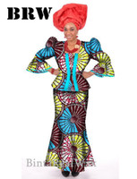 african dress attire - Unique Elegant Private Custom Dress African Women Piece Dresses Sets Fashion Attire Vestidos By Traditional African