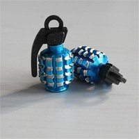 Wholesale GPS New Arrival Hot Sale High Quality Grenade Car And Motorcycle Tire Tyre Air Valve Cap universal Blue Color